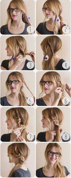 coiffure-simple-cheveux-long-tresse-effet-decoiffee