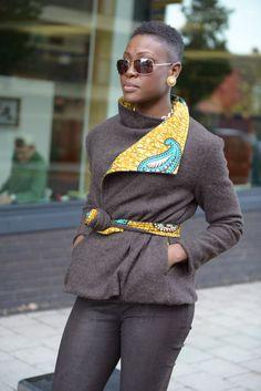 Brown Olana African print jacket by Gitas African Print Dresses, African Wear, African Attire, African Women, African Dress, African Prints, African Inspired Fashion, African Print Fashion, Africa Fashion