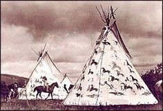 Sioux teepees, 1890