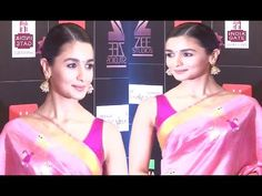 Alia Bhatt looks BEAUTIFUL in saree at Zee Cine Awards 2017.
