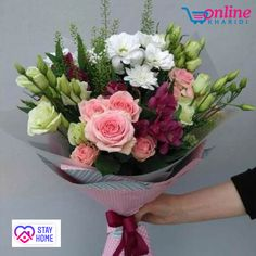 Flowers Delivery in Bangalore- Send flowers to your loved one in Bangalore today! Areka flowers offer same day flower delivery in Bangalore. How To Wrap Flowers, Bunch Of Flowers, Types Of Flowers, Fresh Flowers, Beautiful Flowers, Send Flowers, Cherry Blooms, Modern Flower Arrangements, Hand Bouquet
