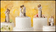 Love these cake toppers!  #willowtree#love#wedding