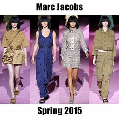 If a military jacket had a baby with a baby doll dress… #MarcJacobs stuns! For the full report, follow this link: http://socksnbirkenstocks.blogspot.com/2014/09/nyfw-ss15-pt8-ralph-lauren-calvin-klein.html #NYFW #SS15