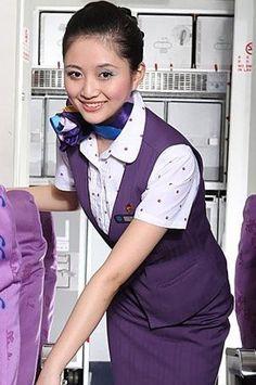 【China】 Xiamen Airlines cabin crew (old uniform) / 厦門航空 客室乗務員 旧制服 【中国】