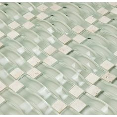 Found it at Wayfair - Vento Random Sized Glass and Natural Stone Mosaic Tile in Mystic Sea