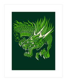 THREE EYED DRAGON Art Print