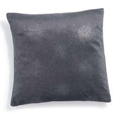 Coussin en tissu gris 40 x 40 cm MIRIFIQUE