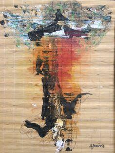 Lion heart Mixed media on wood Natalia Juarez Las Meninas Galeria - Buenos Aires