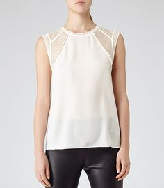 From casual style staples to stand-out designs, we have the perfect women's designer tops to keep you on-trend this season. Shop tops for women now. Reiss, Ready To Wear, Summer Outfits, Hair Makeup, Minimalist, Spring Summer, Cream, How To Wear, Style