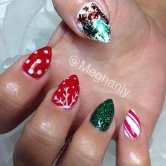 Christmas nails winter nails nail art