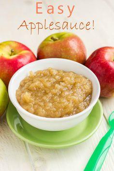 Easy Homemade Applesauce. No sugar added: vegan and gluten-free.