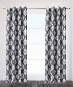 This Black Pearl Damask Curtain Panel - Set of Two is perfect! #zulilyfinds