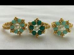 Diy Jewelry, Jewelery, Handmade Jewelry, Jewelry Making, Dangly Earrings, Hoop Earrings, Cartilage Hoop, Beaded Rings, Beading Patterns