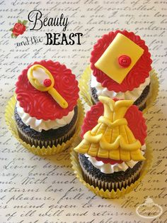 Beauty and the Beast Cupcake Tutorial on Craftsy