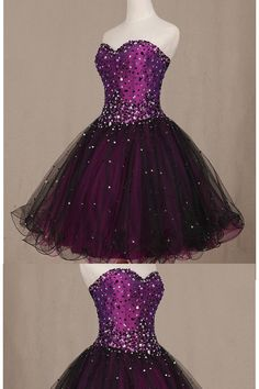 Sweetheart Homecoming Dresses, Purple Short Homecoming Dresses, Beauty Lace Up Beading Short Handmade Strapless Homecoming Dresses #homecomingdresses #beautydresses #promdresses2018 #partydresses