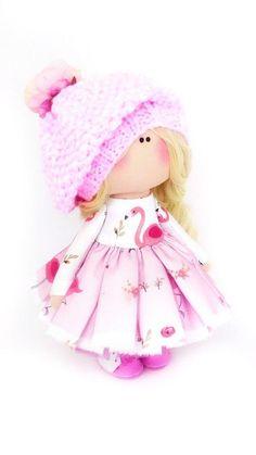Textile Soft Doll Tilda Interior Doll Nursery Decor Doll   Etsy Fabric Dolls, Fabric Art, Irina S, Doll Sewing Patterns, Soft Dolls, Nursery Decor, Art For Kids, Baby Dolls, Baby Gifts