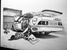Ford Sierra, Ford Escort, Car Ford, Rally Car, Art Drawings Sketches, Sketch Design, Line Drawing, Porsche, Classic Cars
