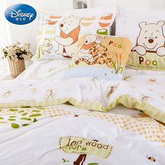 Winnie The Pooh Light Green Luxury Disney Bedding Sets