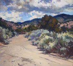 Tesuque Arroyo by Jill Carver Oil ~ 20 x 22