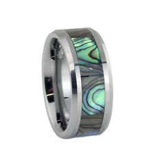 Honest Abalone Shell Ring Iris Mother Of Pearl Sea Ear 925 Silver Classic Size 9.5 Pearl