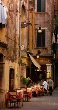 Venice, Italy  Could sit there a sip a cuppachino or glass of wine and watch the world go by