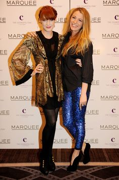 Blake Lively In Isabel Marant and Florence Welch – Marquee Nightclub In The Cosmopolitan VIP Opening