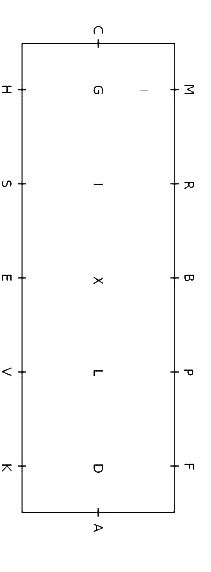 diagram of the standard  large  60m x 20m  dressage arena  small arenas exclude the letters r  s