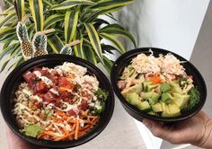 8 Poke Bowl Restaurants In Vancouver Thatll Bring You To The Shores Of Hawaii Restaurant Names, Poke Bowl, Paella, Soul Food, Vancouver, Potato Salad, Hawaii, Restaurants, Bring It On