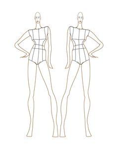 Fashion Figure Templates - Italian Fashion School