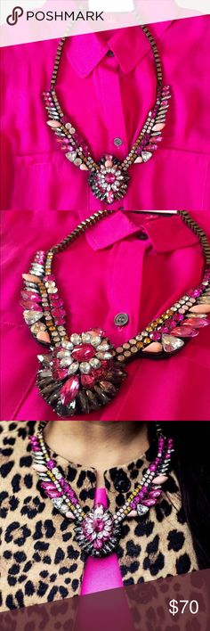 Luxe Pink Medallion Necklace💖 Absolutely stunning 18k plated rhinestone necklace 💕it's one of those items that catches your eye from across the room! Lead & Nickel free. ✨SAME DAY SHIPPING FOR THIS NECKLACE✨ every girl should have a necklace like this in her closet😍 T&J Designs Jewelry Necklaces