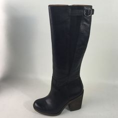 Lucky Brand Black Leather Knee High Boots New New in box , Lucky Brand Black Leather Knee High Boots Lucky Brand Shoes
