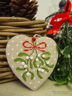 Thrilling Designing Your Own Cross Stitch Embroidery Patterns Ideas. Exhilarating Designing Your Own Cross Stitch Embroidery Patterns Ideas. Cross Stitch Christmas Ornaments, Xmas Cross Stitch, Cross Stitch Heart, Xmas Ornaments, Christmas Cross, Cross Stitching, Cross Stitch Embroidery, Cross Stitch Pillow, Christmas Sewing