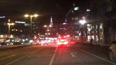 Fahrt durch Stuttgart Abends, Febr 2015