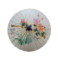Chitao Chinese Vintage Natural Paper Umbrella for Personal Sun Protection