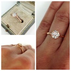 A classic and elegant solitaire in luxurious 18kt rose gold. The sparkly center is a 0.92ct old European cut diamond. A ring she will wear forever and a hand crafted Single Stone original. (213) 892-0772 www.singlestone.com #diamonds #rings #rosegold #gold #classic #engagement #wedding #proposal #ido #want #sparkle #jewelry #finejewelry #solitaire #yes #celebration