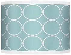 Aqua Interlace 10-Inches-H Lamp Shade