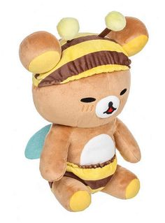 Rilakkuma Korilakkuma Honey Bee Plush Mascot Japan San-x for sale online Rilakkuma Plushie, Kawaii Gifts, Kawaii Plush, Cute Bee, Cute Stuffed Animals, Polymer Clay Animals, Diy Home, Home Decor, Bee Theme
