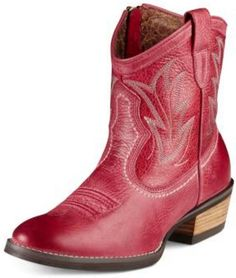 Short Red Cowboy Boots - Boot 2017