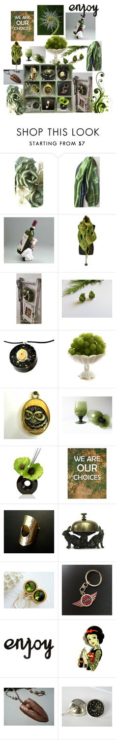 """We are our Choices"" by anna-recycle ❤ liked on Polyvore featuring Reception, Olivine, Disney, modern, rustic and vintage"