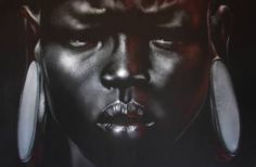 "Saatchi Art Artist Philippe Vignal; Painting, ""SURMA GIRL"" #art"
