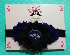 Baltimore Ravens headband football headband baby by AnisasBowtique, $12.00