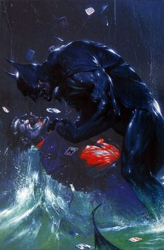 Batman vs. Joker by Gabriele Dell'Otto