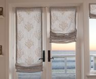 These Are Called Panel Track Shades LOVE This Look For Sliding - Window coverings for patio doors