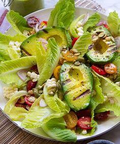 Laurenconrad.com - Grilled Avocado Salad Recipe | Laurenconrad.com shares Aida Mollenkamp's recipe for a grilled avocado salad. #refinery29 http://www.refinery29.com/grilled-avocado-salad