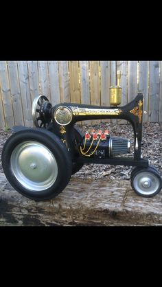 Sewing machine turned into a model of a tractor!!!