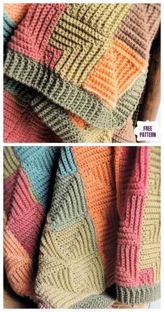 Crochet afghans 829788300070912694 - Crochet Mitered Patchwork Throw Blanket Free Crochet Pattern Source by annakornela Motifs Afghans, Crochet Motifs, Free Crochet, Knit Crochet, Crochet Stitches, Blanket Crochet, Sewing Stitches, Crotchet, Crochet Throws