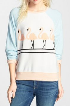 Cute flamingo sweatshirt http://rstyle.me/n/v4qiznyg6