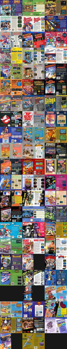 (Nearly) Every NES Box, Front and Back, by Year - Imgur