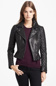 Quilted leather jacket <3 @Nordstrom