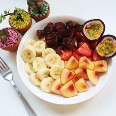 Les meilleurs petits déjeuners pour perdre du poids Nutrition, Slow Food, Fruit Salad, Health Fitness, Veggies, Vegan, Cooking, Healthy, Healthy Foods